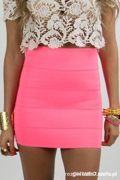 Romantyczne różowa spódniczka
