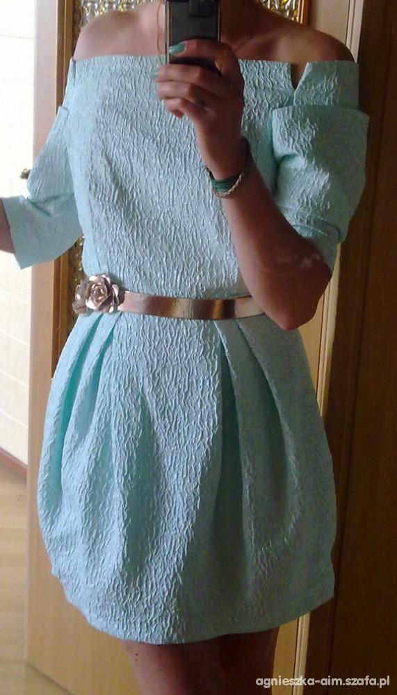 Na specjalne okazje miętowa sukienka
