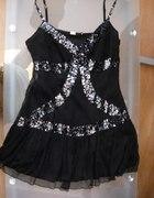 Śliczna markowa sukienka roz 14 cekiny