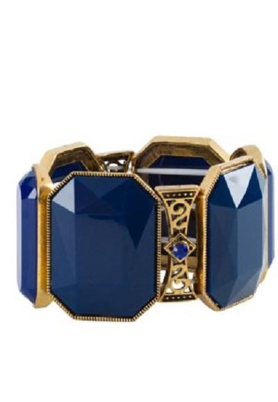 Kobaltowa bransoletka kamienie