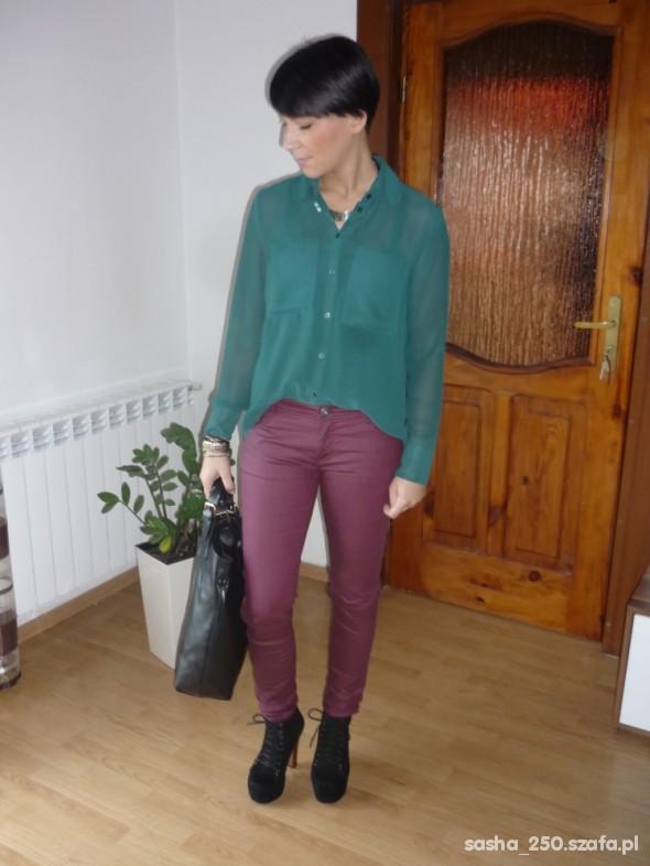 Mój styl burgund i butelkowa zielen
