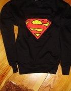 Bluza supermen czarna 40 L JAK NOWA