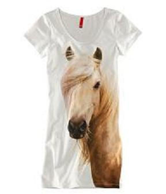 Sukienka tunika z koniem