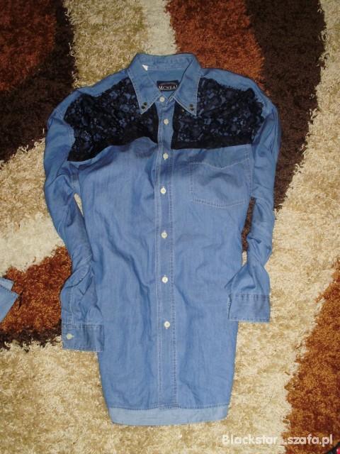 92c0610dc9cf8c ćwieki koszula jeansowa koronka XXL oversize w Koszule - Szafa.pl