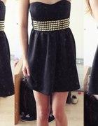 Sukienka tally weijl czarna z paskiem