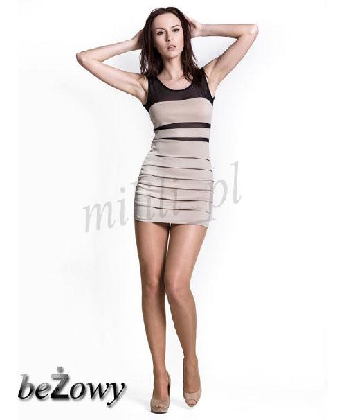 Sukienka bandażowa z siatką