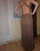 Brązowa suknia sylwestrowa...