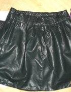 Spódnica mini imitacja skóry panterka...
