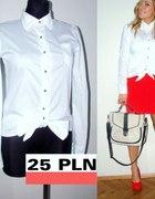 KOSZULA biała z kokardą NOWA elegancka M