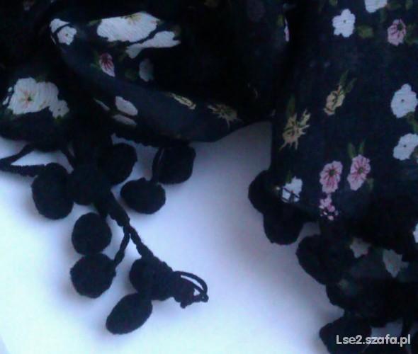 Chusty i apaszki apaszka szalik w kwiaty cudna