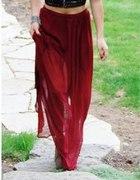 Spódnica Maxi wiśniowa