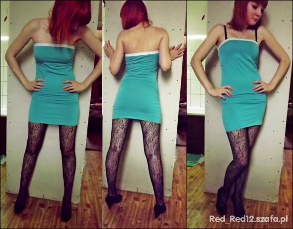 Imprezowe Zielona sukienka