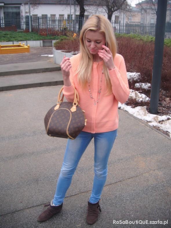 Codzienne pomaranczowy sweter