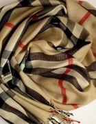 modny szalik w krate