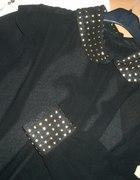 nowa czarna bluzka z ćwiekami na mankietach 39zł