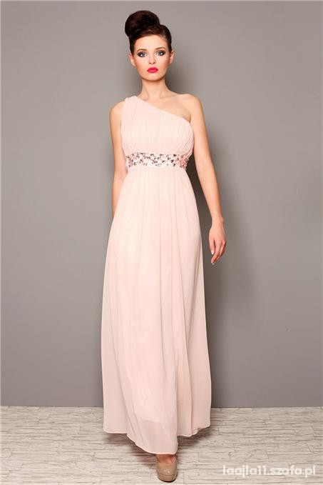 8666a7e4bc7 długa sukienka na jedno ramię w Ubrania - Szafa.pl