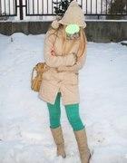 zielono i bezowo mi NAWET ZIMĄ za parę gr strój...