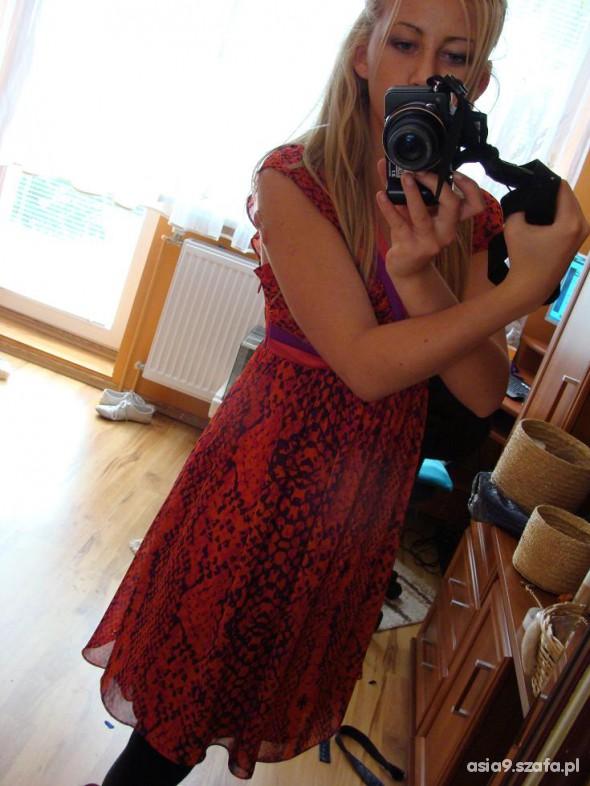 Romantyczne Wzorzysta sukienka