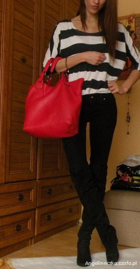 Mój styl Czerwona vs pomarańczowa torebka