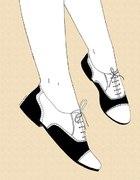 buty jazzówki czarno białe a la Lolita