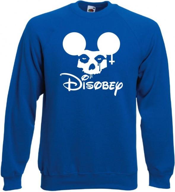 Bluza z nadrukiem Obey Disobey niebieska