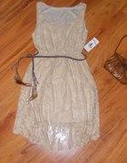 asymetryczna koronkowa sukienka