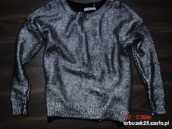 Metaliczny nowy sweter M
