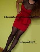 Sylwester czerwona z baskinką i ćwiekami
