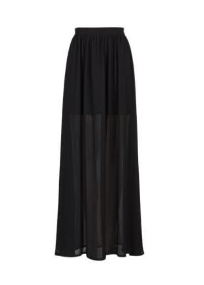 CUBUS black maxi long skirt spódnica...