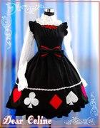 Sukienka gothic lolita karty do gry