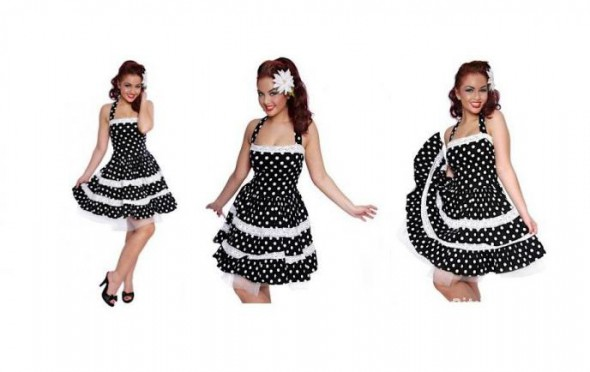 Collectif pin up rockabilly groszki sukienka