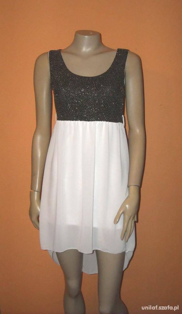 nowa sukienka asymetryczna szyfonowa 39zł