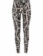 H&M czarno białe legginsy S