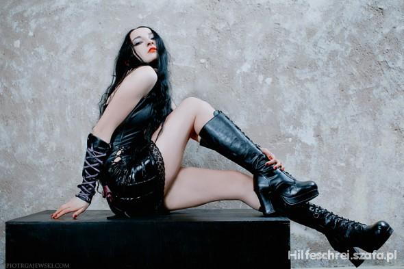 Goth fetish doll