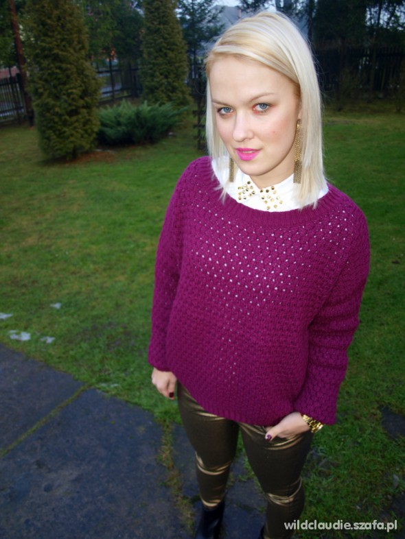 Blogerek burgundowy sweter