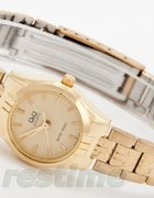 zegarek q&q złoty bransoleta