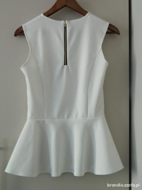 NOWA bluzka biala baskinka zip 36 S