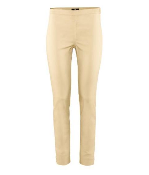 Beżowe spodnie rurki wysoki stan h&m HIT