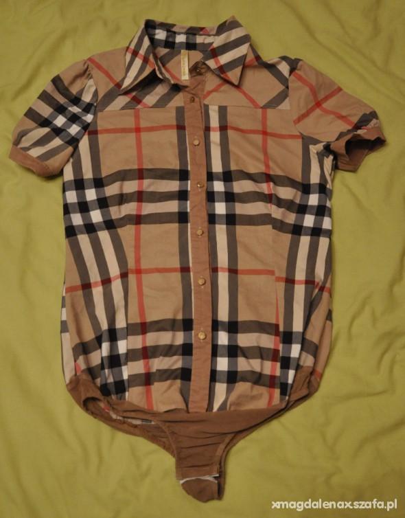 Koszule damska koszula body w kratkę jak BURBERRY M