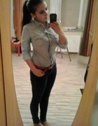 Body Koszula Jeans Stradivarius