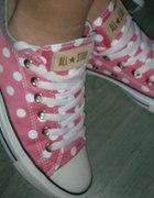 converse pink polka dot gorszki róż...