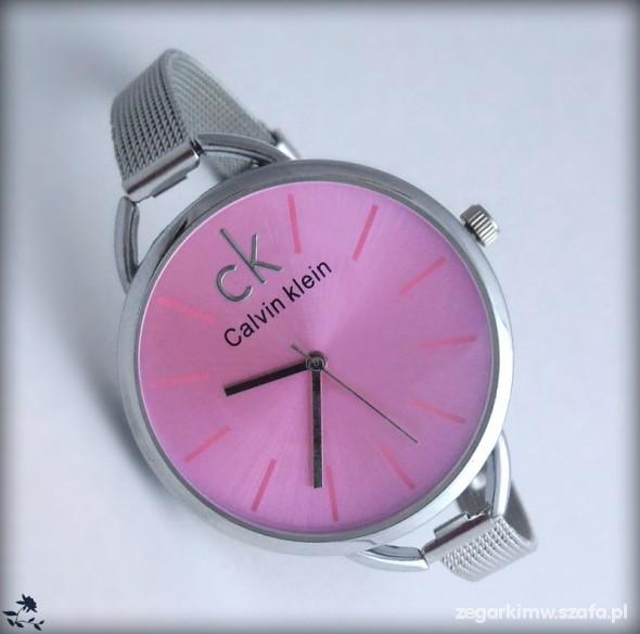 zegarek CALVIN KLEIN CK srebrna bransoletka NOWY