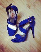 Sandały chabrowe nity New Look...