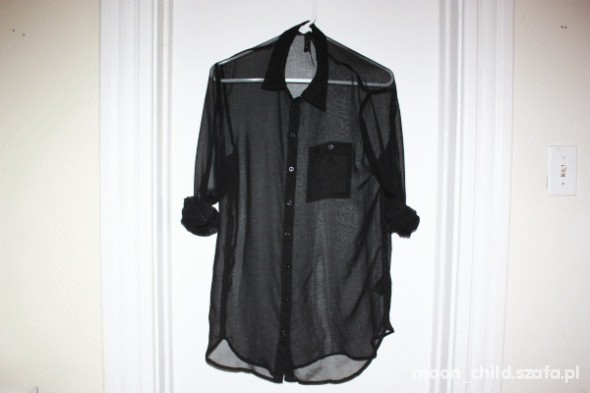 HM koszula mgiełka oversize khaki w Koszule Szafa.pl  aHhYx