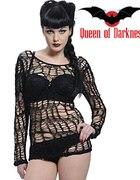 Queen of Darkness bluzka pajęczyna duże oczka rave...