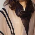 Czekoladowa apaszka brązowa chusta prostokątna
