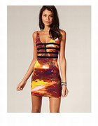 MOTEL ASOS GALAXY BODYCON SUKIENKA...