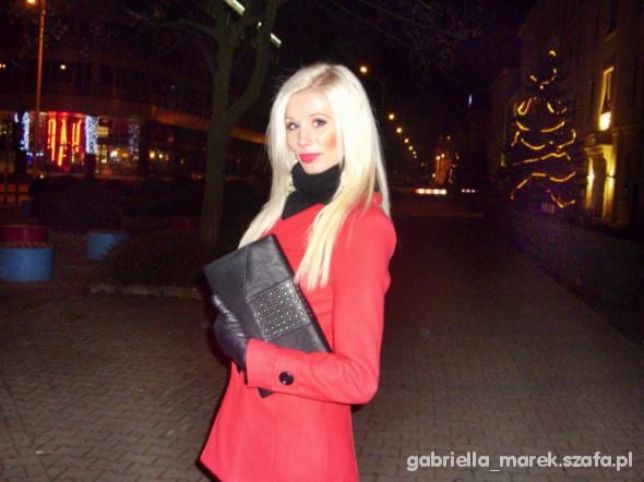 Eleganckie czerwony płaszczyk