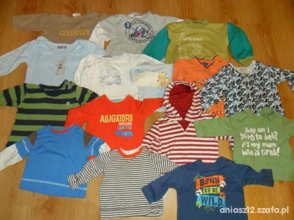 Komplety Paka 92 ubrań dla chłopca w rozm od 62 do 92