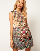 Asos Structured Jewel print dress